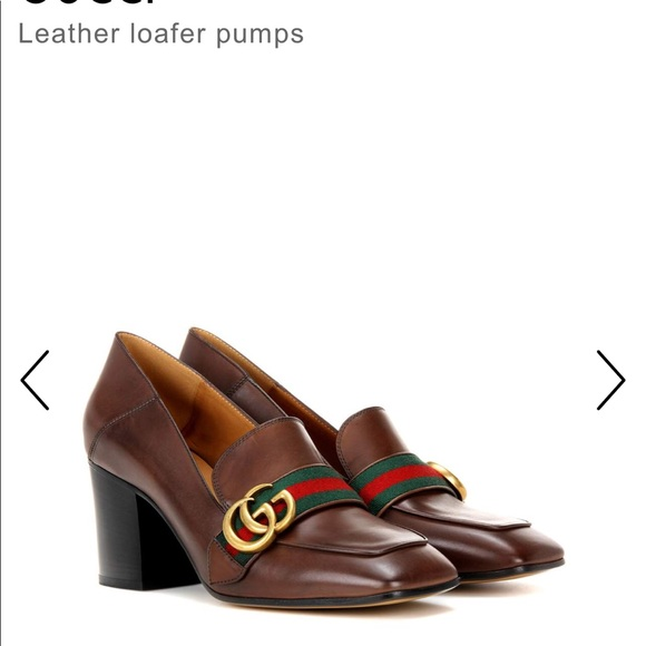 99dc6338b7c3 Gucci Shoes - Gucci Peyton leather loafer pump in size 37